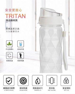 【黃小立立】耐高溫700ML大容量進口Tritan運動水壼防燙防滑手提太空健身水壺矽膠水瓶
