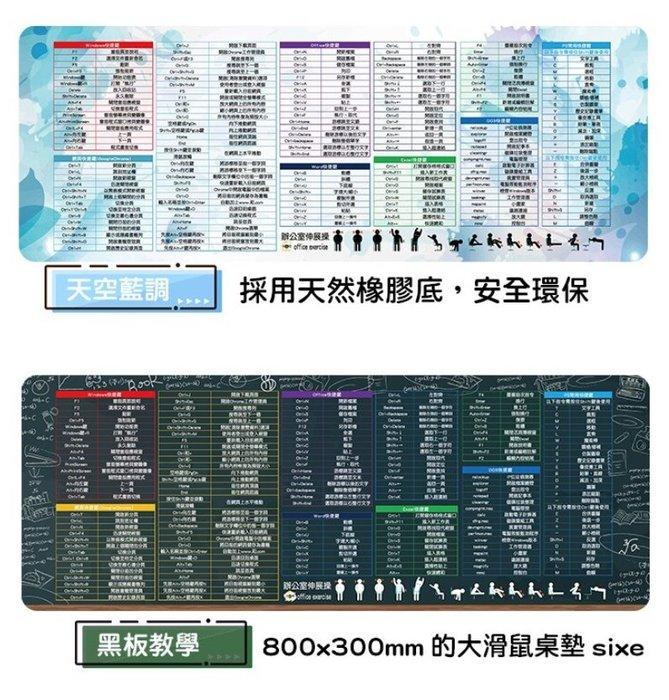 【繁體中文版】 軟體快捷鍵 滑鼠墊 2色任選