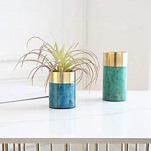〖洋碼頭〗印度進口 金屬孔雀綠小花瓶仿真花器 樣品房家居飾品 shx186