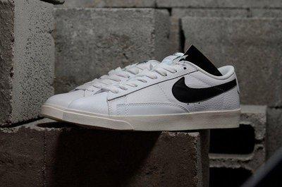 NIMI通販 NIKE BLAZER LOW PRM 荔枝紋 454471-104 滑板鞋 白色 黑勾 經典