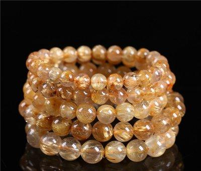 (共兩款)天然巴西金髮晶,舒俱來水晶手鍊(珠約10mm↑)