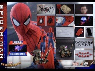 30/7 12:5x 動漫節 Hottoys 1/4 scale Spider-man w/ bonus part QS014B 會場特別版 1比4 蜘蛛俠