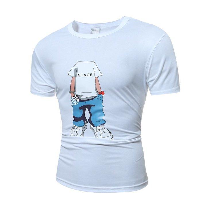 牛仔牛仔褲大碼男T亞馬遜速賣通專供牛仔褲印花短袖T恤T23 印花牛仔褲