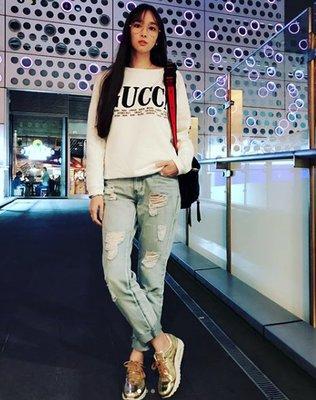 【代購】 Gucci  logo 印刷 圖案 衛衣 長袖 上衣