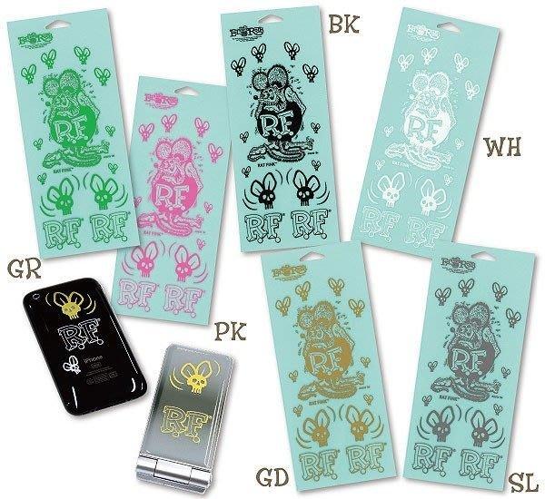 (I LOVE樂多)RAT FINk六種顏色老鼠烤漆貼紙Skull Fly Decal貼於手機 汽車 機車 單車 生活用品RF