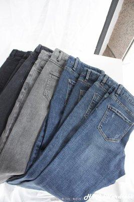 【HKI Wardrobe】怒推!小腳褲合集!敲質感!顯瘦做舊中腰破洞彈力牛仔九分褲 B 4000