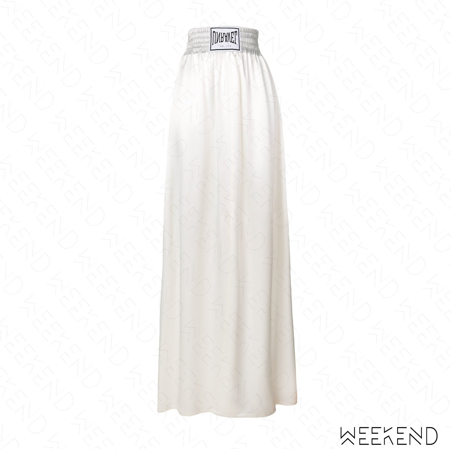 【WEEKEND】 UNRAVEL Logo Maxi 側邊開岔 裙子 長裙 淺灰色 18春夏新款