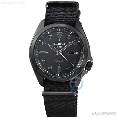 【柒號本舖】SEIKO 精工次世代5號機械帆布帶腕錶-IP黑 # SRPE69K1