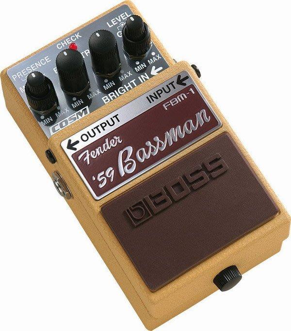 ☆ 唐尼樂器︵☆全新 Boss FBM-1 Fender '59 Bassman 音箱模擬 效果器