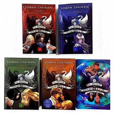 School for good and evil 5冊盒裝 贈mp3 音檔 紐約時報best seller