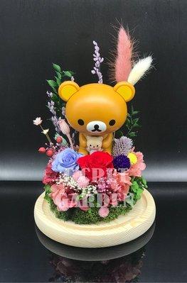 大頭公仔 - 鬆弛熊(貓貓主題)保鮮花花禮