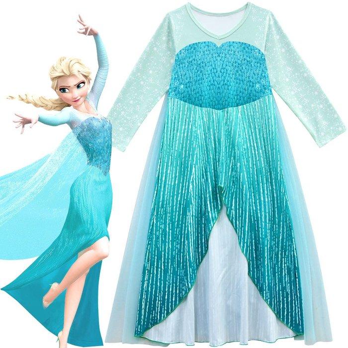現貨 冰雪女王印花公主洋裝
