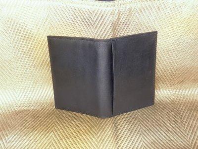 【李歐的二手皮件】近全新 非bally 華南產物保險 黑色牛皮真皮 名片夾 卡夾 證件夾 悠遊卡套