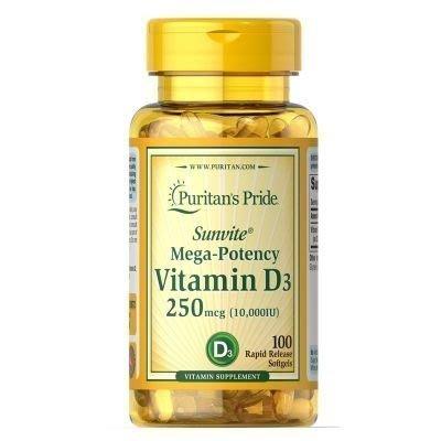 21°C代購 /美國原裝進口普麗普萊 天然維生素 vitamin D3促補鈣吸收 10000iu