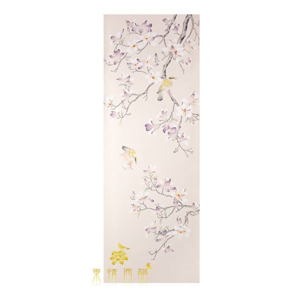 【芮洛蔓 La Romance】手繪絲綢壁紙 ZW01-009A-07 / 壁飾 / 畫飾 / 牆紙