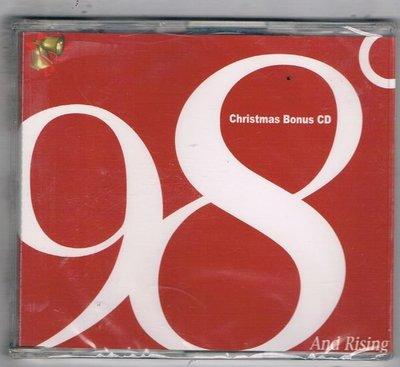 [鑫隆音樂]西洋單曲-98度: Christmas Bonus CD / And Rising {156651-2} 全新