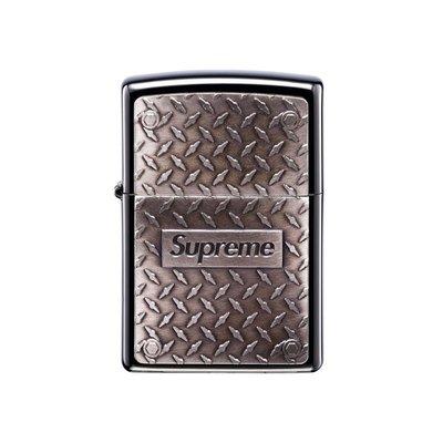 Supreme Diamond Plate Zippo Logo 不掉漆壓紋logo 鑽石打火機 現貨【BoXhit】
