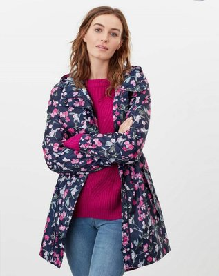 代購 joules女 防水 連帽薄風衣、雨衣 可收納 UK 8~18號