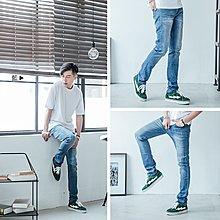大彈力【OBIYUAN】韓版長褲 刷色彈性 牛仔褲 刷色 丹寧休閒褲 【P2120】