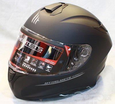 。摩崎屋。 西班牙 MT 安全帽 TARGO 系列 ( 消光黑 ) 插釦式安全帽 五件式可拆洗內襯 藍牙耳機預留孔