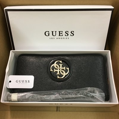 😍Guess😍Women's Open Road Large Zip Around Wallet 黑色女裝長銀包