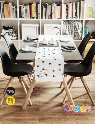 Moreover原創設計創意北歐歐美全棉印花波點桌旗桌布簡約現代