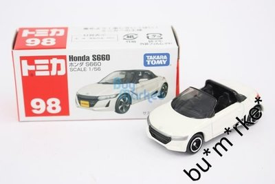 TOMICA Takara Tomy #98 Honda S660 本田 白色 開蓬車 1:56  車仔 模型 2016 #824961