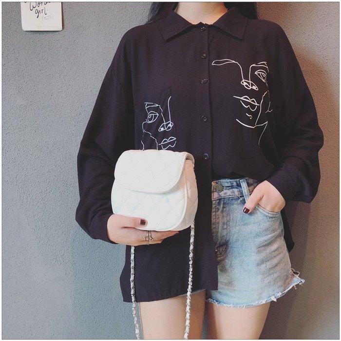 FINDSENSE X 韓國 女士 時尚菱格 小包包 手機包 小挎包 百搭 單肩包