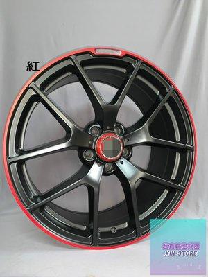 【A-951】 19吋鋁圈 5孔112 前後配 黑底紅邊 類 AMG W205 CLA250 W176 C300