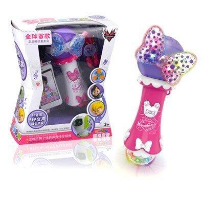 佳佳玩具 ----- 兒童玩具超級變聲麥克風玩具/帶燈光可錄音麥克風/卡拉ok唱歌麥克風玩具附掛繩【CF122774】