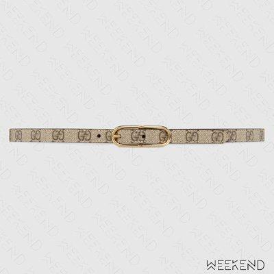 【WEEKEND】 GUCCI Jackie thin GG Supreme 腰帶 1.5公分 649492