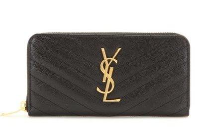 EZ Fashion 18SS義大利進口真品Saint Laurent真品Monogram長夾/錢包/皮夾-黑
