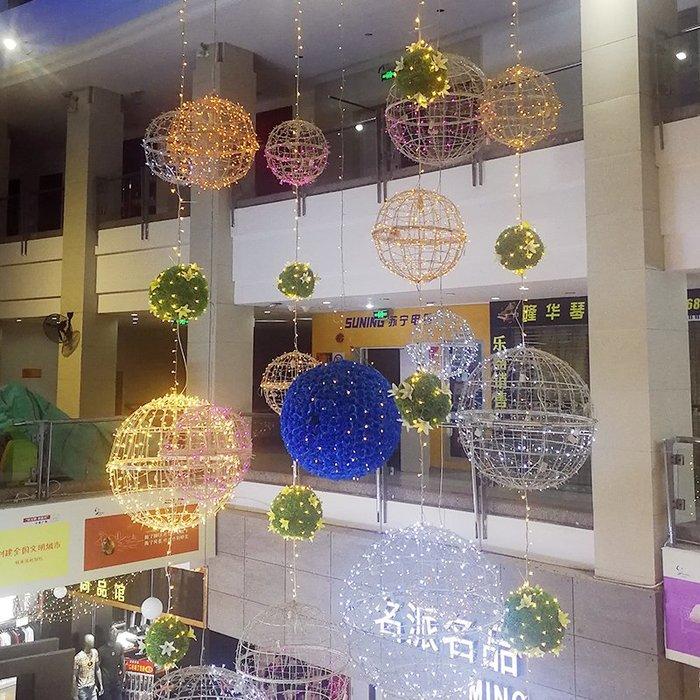 LED掛樹圓球造型燈  彩燈  閃燈  串燈  滿天星景觀燈  商場廣場節日裝飾 燈