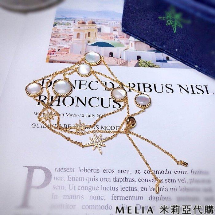 Melia 米莉亞代購 商城特價 每日更新 19ss APM MONACO 飾品 手鍊 項鍊 兩用 金黃色純銀鑲晶鑽白貝