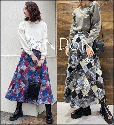 SaNDoN x『MOUSSY』春季新品 復古圖騰風格拼布長裙 SLY 210330