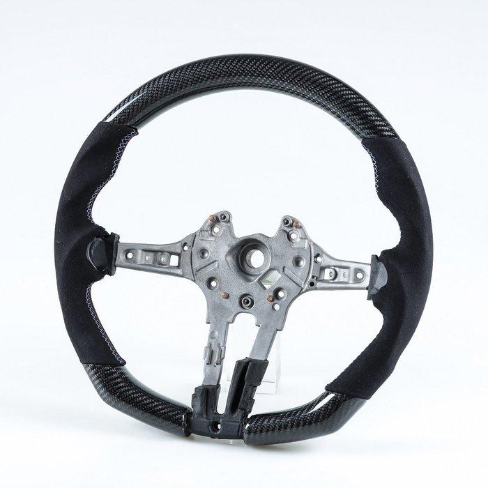 [卡夢碳纖維+麂皮] 方向盤 寶馬BMW F80 M3 / F82 M4用 2014年式後適用