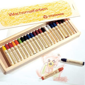 【Stockmar史督曼】蜂蜜蠟筆 24色 *德國華德福產品 木盒包裝*