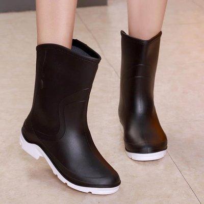 雨鞋女平跟加厚雨靴防滑防水鞋水靴春夏四季   全館免運