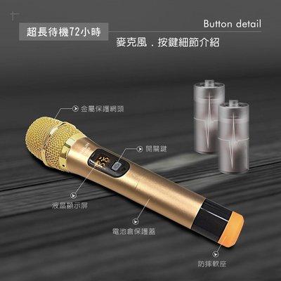 UHF 無線麥克風 隨插即用 歌手級 專業 百米 無線麥克風 降噪 防嘯叫 無雜音 抗干擾 不斷頻