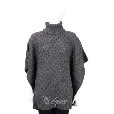 米蘭廣場 Michael Kors 深灰色麻花針織高領斗篷上衣 1610098-11
