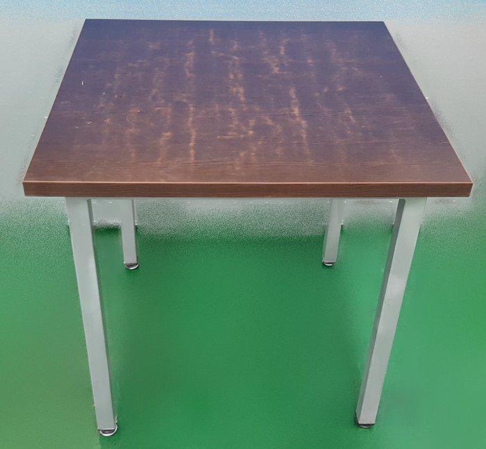 【宏品二手家具館】中古家具 家電E41607*胡桃四方銀腳餐桌*咖啡桌/會議桌/洽談桌/中古 書桌椅 會議桌椅 辦公桌椅