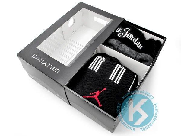 2012 台灣未發售 NIKE JORDAN HOLIDAY GIFTPACK 1 BEANIE 1 STOCKING 毛帽 禮物襪 黑紅 AIR AJ 11