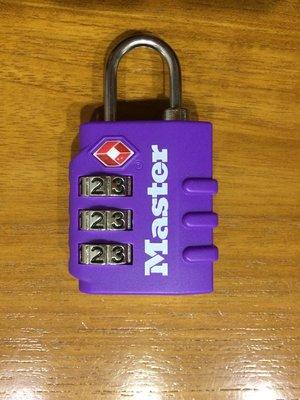 Master Lock 海關鎖 密碼鎖迷你 TSA行李箱掛鎖 登機箱鎖 托運行李箱掛鎖 防盜鎖 (紫色)