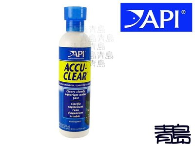 一月缺B。。。青島水族。。。美國API魚博士-------強效水質清淨(徹)劑==120ml