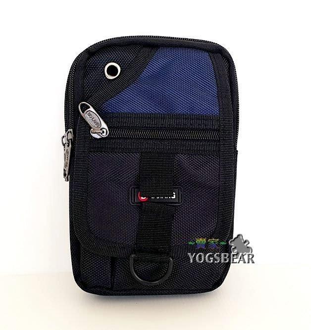 【YOGSBEAR】D 直立式 手機袋 三用包 手機包 斜背包 腰包 側背包 工具包 掛包 5254 深藍色