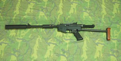 【藍色小鋪-便宜賣您/免運費】UD-802散彈版(黑色) 狙擊CO2長槍+滅音器-SP100最高階進化版8mm