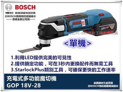 【台北益昌】德國 BOSCH GOP 18V-28 單主機 無刷鋰電魔切機 18V (附136工具箱) 輕巧 強軔