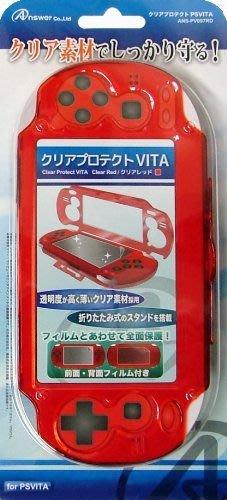 PSV 1000型 主機日本ANSWER 全機端子保護式 PC硬殼 內附前後觸控保護貼 紅色款【板橋魔力】