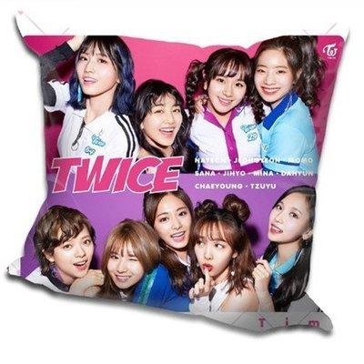 現貨!TWICE 全體 周子瑜 娜璉 Momo 抱枕 靠墊 枕頭,40x40cm,緞紋布,色彩鮮豔,印製精美。B款