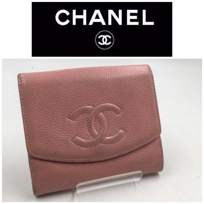 【皮老闆二店】二手真品 Chanel 錢包 皮夾 短夾 藍502 嘉義市